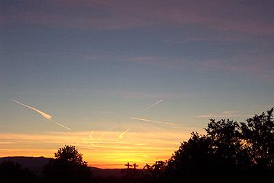 sunset, santa fe, december 27, 2002.