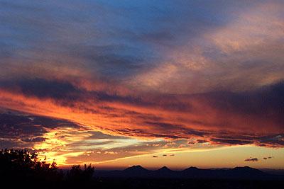 sunset, santa fe, december 29, 2002.