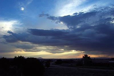 sunset, august 7.
