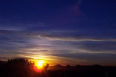 sunset, santa fe, new mexico, january 22, 2003.