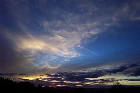 sunset, santa fe, new mexico, february 12, 2003.