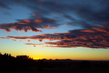 sunset on january 21, 2002.