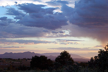 sunset, 08/27/01. looking at the sandia crest.