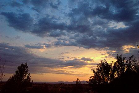 sunset, santa fe, new mexico, july 25, 2003.