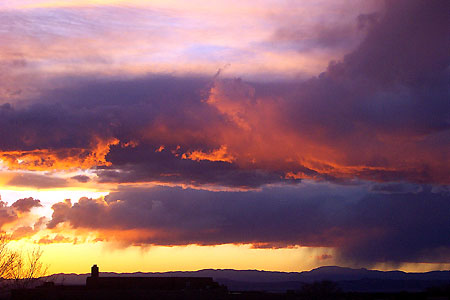 sunset, santa fe, new mexico, april 2, 2003.