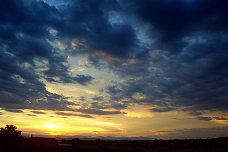 another sunset view, santa fe, new mexico, july 25, 2003.