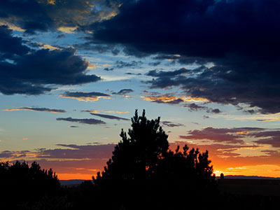 sunset, santa fe, new mexico, august 5, 2003.