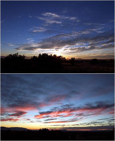 sunset, santa fe, november 13.