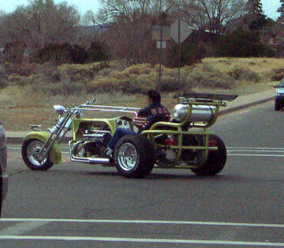 back of trike, santa fe, new mexico, march 24, 2003.