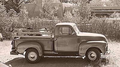 old truck, galisteo.