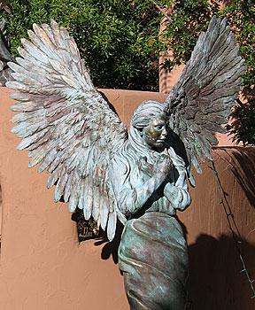 winged native, santa fe, new mexico, august 8, 2003.